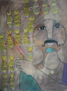 El Coronel pintura por Marco Razo El Coronel, pintura por Marco Razo