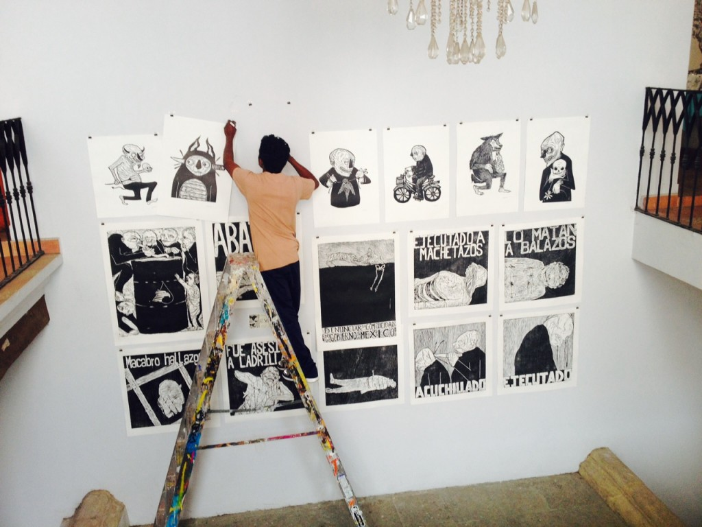 "Artist Installs Work at ""Casa Grafica"" event in Oaxaca"