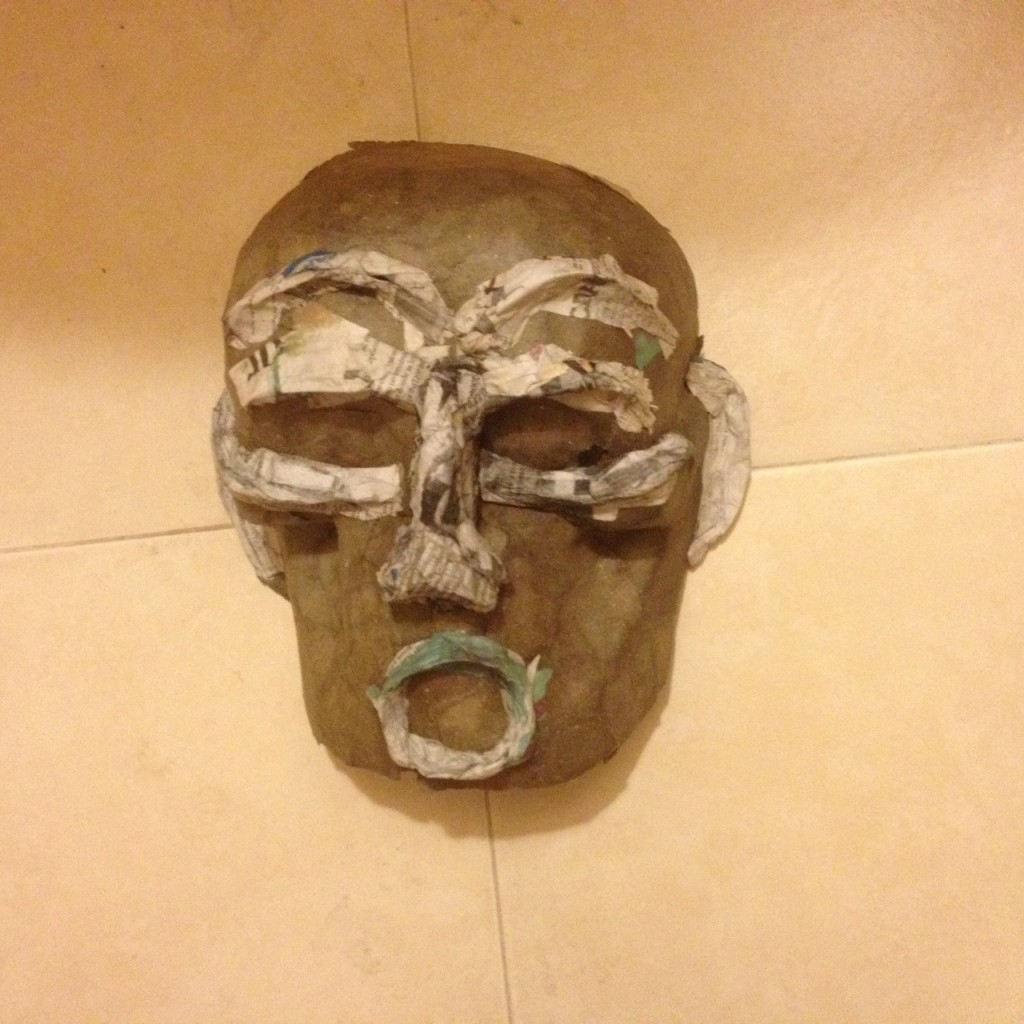 Here's my mask in process